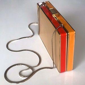 Zara box clutch chain purse